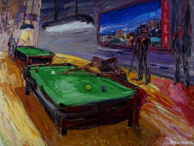 Pool table painting