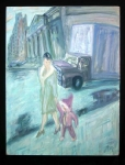 Woman With Child And Truck