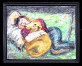 LARRAINE WITH DOG