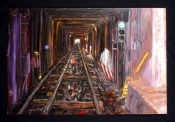 Subway Tunnel With Workers