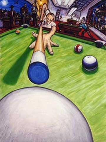 POOL AND BILLIARD PAINTINGS Pool Table Art Pool Cue 8 Ball 9 Ball