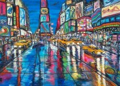 Rainy Eve Times Square